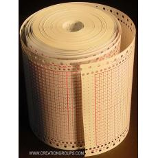 15 Sheets Blank Punchcard Roll for Brother KH860 KH868 KH260 Silver Reed SK280 SK155