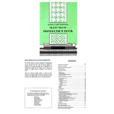 Manual/Pattern/Parts Catalog/Instruction Book for Brother KH860 KH970 Silver Reed Studio SK280 SK860