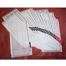 Pre-punched Card (Patterned Punchcards) Set 20pcs + 4 Snaps for 24-stitch Brother/Silver Reed Punchcard Knitting Machine