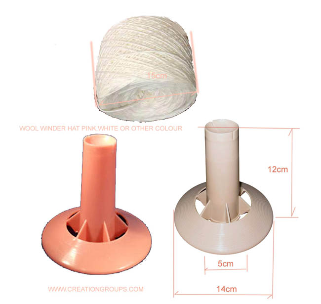 WOOL WINDER HAT/CORE/SPINDLE FOR FIBER/STRING/YARN/WOOL WINDER IN MACHINE & HAND KNITTING