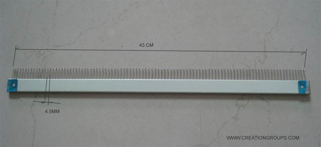 43cm 98 stitches Cast-on Comb for all 4.5mm 9mm Brother Knitting Machine KH260,KH860 to KH970 Singer SK280 SK840