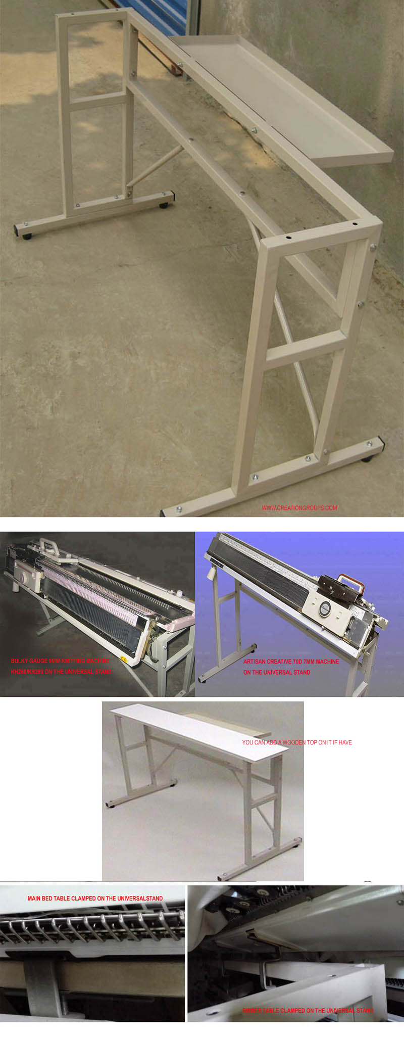 Knitting Machine Stand Table for 70D and All Brother Silver Reed Knitting Machine