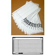 Pre punched Card Set (15pcs) + 4 Snaps for Brother KH260 KH860 and Singer SK280 Knitting Machine