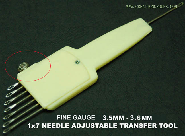 1X7 Needle Adjustable Transfer Tool for 3.5mm 3.6mm Fine Gauge Knitting Machine SK370 270 FRP70 FRJ80 SK830 KH120 KR120