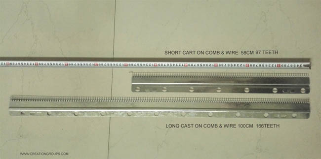 Cast-on Comb Set Long + Short for 6mm Brother Creative KR160 Ribber Knitting Machine