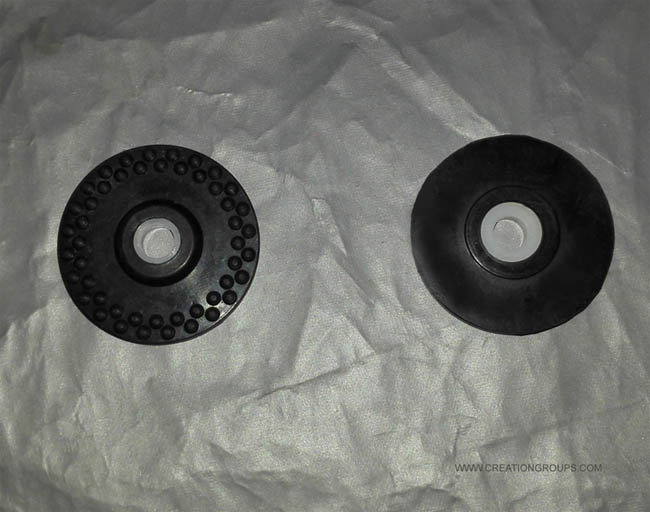 2 Rubber Wheel for Brother KH860 KH890 KH940 KH970 KH230 KH260 KH270