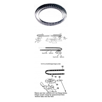 TIMING BELT BROTHER KNITTING MACHINE KH910 KH940 KH970
