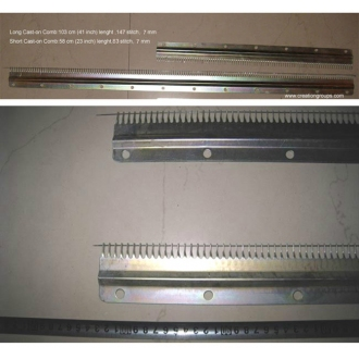 Cast On Comb Set for 7mm Ribber Knitting Machine Creative Artisan 70D GE63 70D+